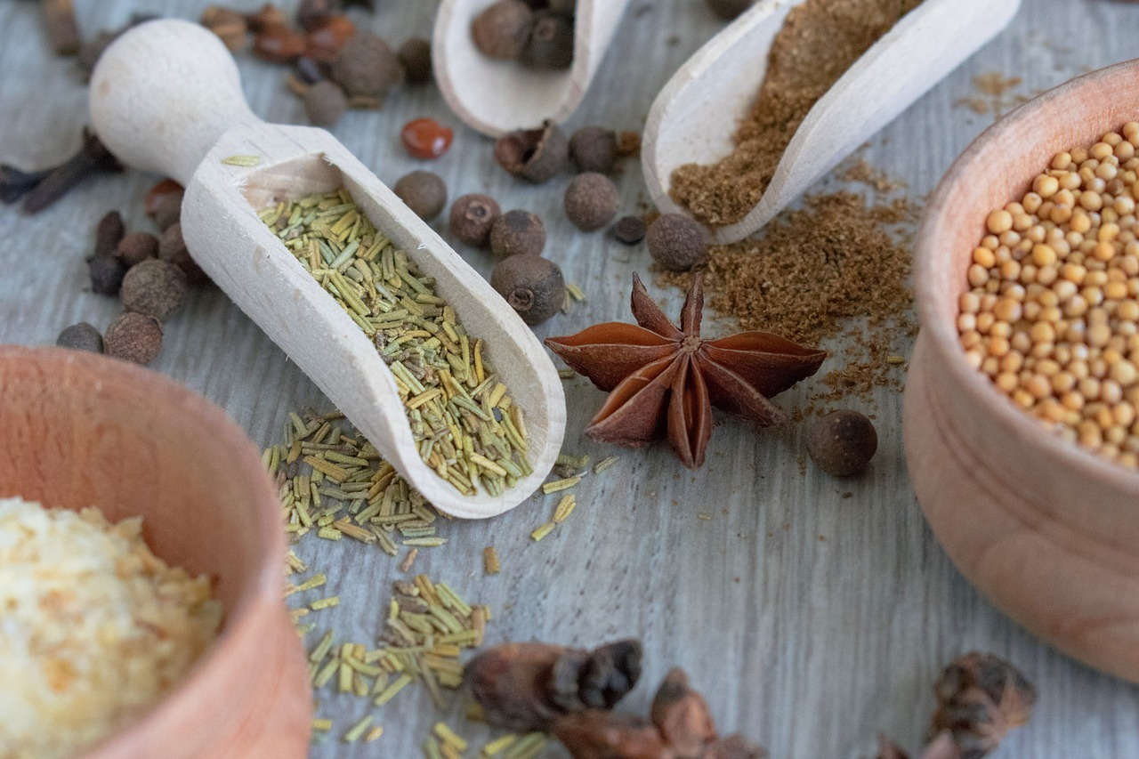 spices, spice, seeds